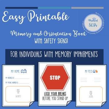 printable memory and orientation book