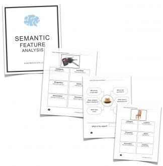 Semantic feature analysis sfa chart