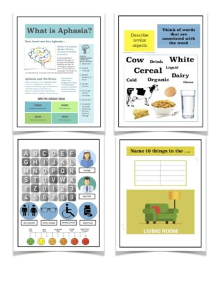 aphasia therapy workbooks worksheets