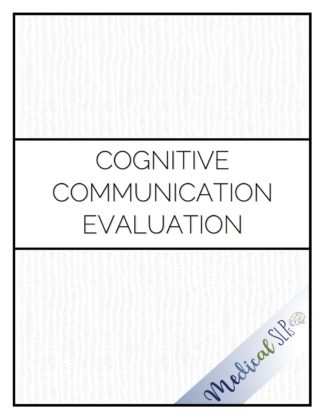 cognitive communication evaluation