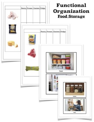 thought organization tasks food storage