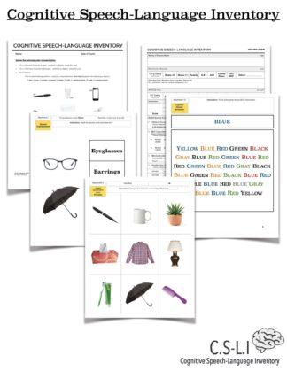 cognitive speech language assessment evaluation