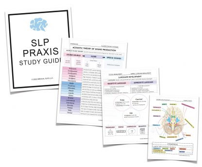 speech language praxis study guide