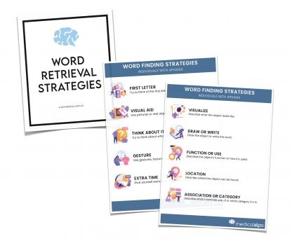 word finding strategies aphasia